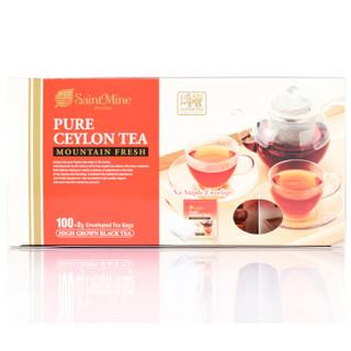 斯里兰卡进口 洺圣(SaintMine) 高山锡兰红茶 200g(2g*100)/盒 *5件