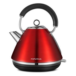 Morphy Richards 摩飞 家用不锈钢电热水壶/电水壶 MR7076A 1.5L/双色可选 颜色:红色