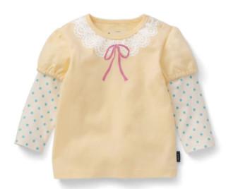 BELLE MAISON 千趣会 婴儿叠穿印花长袖T恤