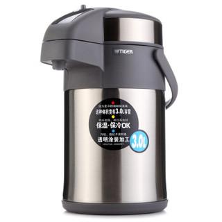 虎牌(Tiger)不锈钢保温壶气压式热水瓶MAA-A30C-TG天鹅灰3升