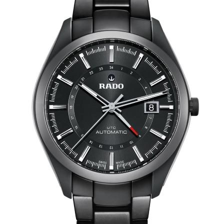 RADO 雷达 HyperChrome 皓星系列 R32167152 男士陶瓷两地时机械腕表