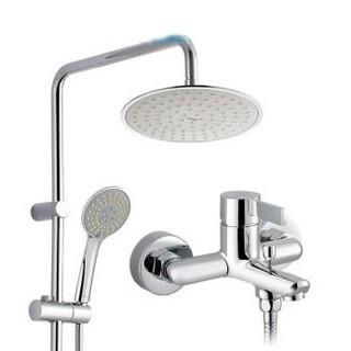 MOEN 摩恩 90108+2293EC+m22034 不锈钢超薄顶喷手持淋浴花洒套装 *2件