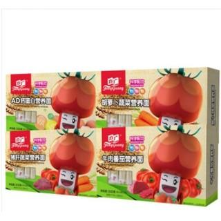 京东PLUS会员 : FangGuang 方广 儿童面条套装(AD钙+胡萝卜蔬菜+猪肝蔬菜+牛肉番茄) *3件