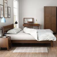 斯蒂朗 B09 北欧实木床 简约现代1.8米双人床 1.5m卧室单人床 日式原木色家具