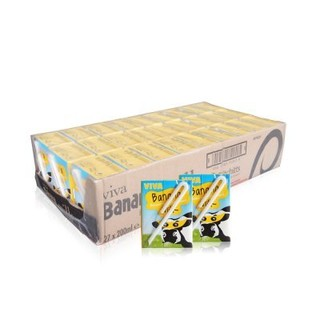 爱尔兰 进口牛奶 韦沃( VIVA)香蕉牛奶200ML*27盒 *2件
