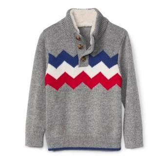 17日10点、历史新低 : Gap 盖璞 934825 W 儿童半高领毛衣