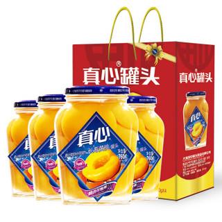 真心 黄桃罐头760g 4瓶/箱
