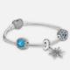 PANDORA 潘多拉 凝霜掠影 925银手链 3颗珠+1条防滑链 1768元包邮,额外送1条手链