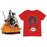凑单品:T-Junkie Deadpool 死侍主题T恤 + Q-Fig 死侍摆件人偶