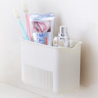 龙士达(LONGSTAR)浴室置物架收纳架 小长方吸纳收纳格 LJ-0638 *2件