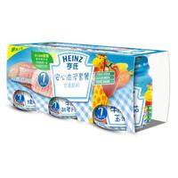 Heinz 亨氏 婴幼儿安心肉泥套餐 ( 牛肉葫芦卜泥*2+牛肉番茄玉米泥)2段  113g*3(7-36月)