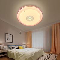 京东PLUS会员 : FSL 佛山照明 灵羽系列 LED吸顶灯 25W 粉色 *5件