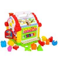 PLUS会员:Huile TOY'S 汇乐玩具 趣味小屋 739 儿童益智形状配对塑料积木