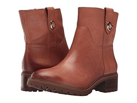 COACH 蔻驰 Georgetta 女士中筒靴 Saddle Burnished