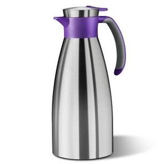 爱慕莎(emsa)保温壶316不锈钢真空保温瓶1.5L 索菲特SOFT GRIP蓝莓色 *5件+凑单品