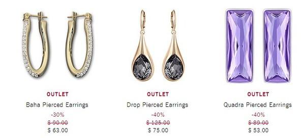 SWAROVSKI美国官网 OUTLET区开放 精选项链、戒指、手环等饰品