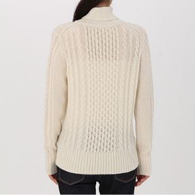 MUJI 无印良品  W7AA874 女士高领毛衣 *2件+凑单品