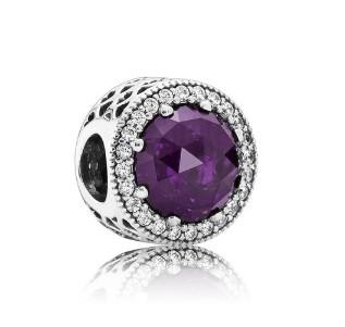 PANDORA 潘多拉 791725NRP 紫色水晶串饰