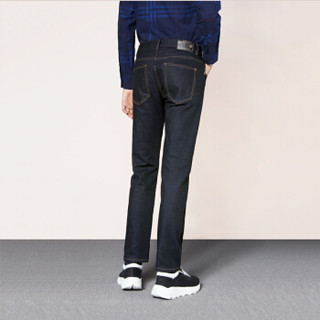 HLA 海澜之家 HKNAD3V185A 男士直筒牛仔裤 黑色 185/100A