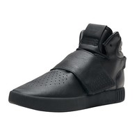 凑单品:adidas 阿迪达斯 Tubular Invader Strap 男士休闲运动鞋 黑色 *2双