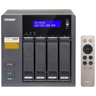 QNAP 威联通 TS-453A 四盘位NAS网络存储器 4G
