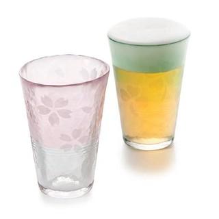 ADERIA 津轻 手工樱花玻璃杯