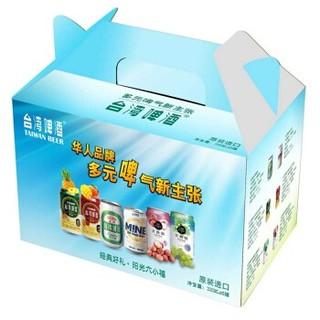 台湾啤酒礼盒金牌果味麦芽酒多味组合六小福礼盒装330ml*6听包邮 *4件