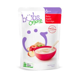 bubs 婴幼儿宝宝辅食营养苹果燕麦粥 125g