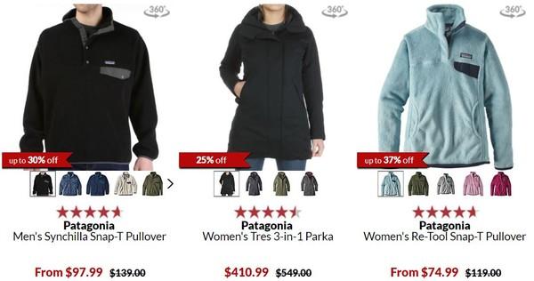 Moosejaw 精选运动户外服饰鞋包 冬季清仓(含patagonia、FJÄLLRÄVEN、Marmot等)