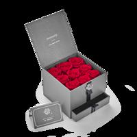 情人节礼物:Roseonly 一生一世 盛开版方形 玫瑰花盒