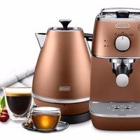 Delonghi 德龙 Distinta鎏金系列 泵压式咖啡机+电水壶套装