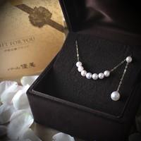 Pearlyuumi Akoya 4-4.5mm海水珍珠项链 K14白金 *2件