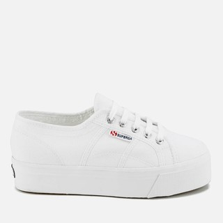 SUPERGA 2790 Linea Up Down 女士厚底帆布鞋 白色