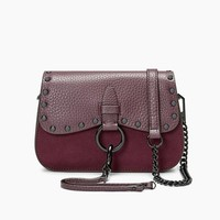 历史新低:Rebecca Minkoff 瑞贝卡·明可弗 KEITH SMALL SADDLE 女士真皮斜挎包