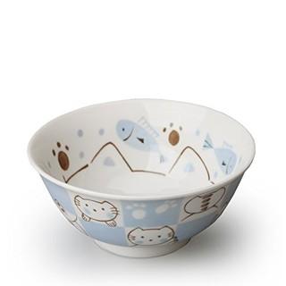 美浓烧 日本进口陶瓷餐具儿童卡通碗
