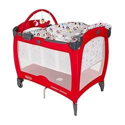 GRACO 葛莱 婴儿床便携式儿童游戏床 午睡尿布更换台 大红色