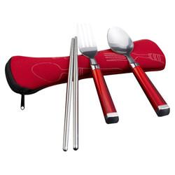 唐宗筷 便携式筷、叉、勺套装餐具T360 颜色随机 *3件