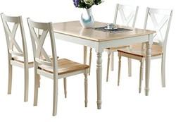 生活诚品 餐桌椅套装 实木地中海餐桌 SMD13085