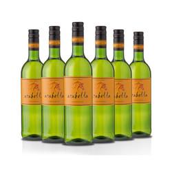 南非进口红酒 艾拉贝拉 Arabella 白诗南干白葡萄酒750ml*6瓶整箱