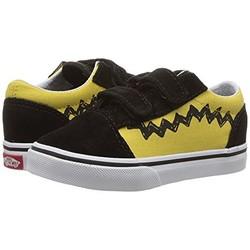 Vans Old Skool V x Peanuts Charlie Brown 联名款小童款帆布鞋