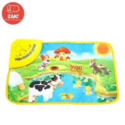 ZAK!踢踏跳舞毯 儿童男孩女孩婴幼儿益智早教玩具系列 发声玩具 音乐毯 农场数字游戏垫 YQ3009 *2件