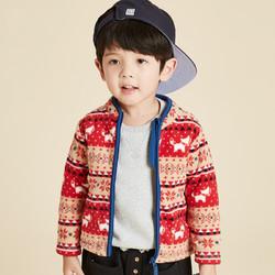 Maxwin kids 马威 18月-5岁男小童摇粒绒针织立领茄克