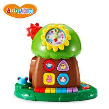 澳贝玩具趣味小树婴幼声光积木珠算早教电子琴智慧树 463425DS