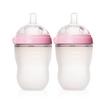 可么多么(como tomo)EN250TP 婴儿全硅胶防摔奶瓶 粉色 宽口径 250ML 两个装 165元