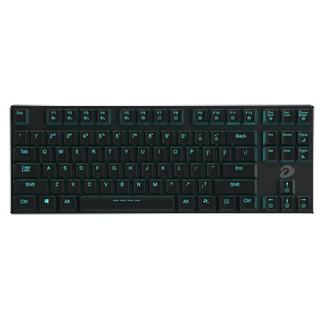 达尔优EK820 超薄87键游戏背光办公机械键盘 巧克力红轴 绝地求生吃鸡利器
