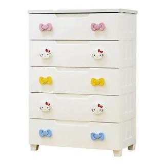 爱丽思IRIS 环保材质 HELLO KITTY 儿童收纳抽屉柜 整理柜 储物柜 衣柜KMG-725白黄+凑单品