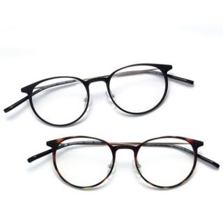 HAN HD3506 复古防蓝光眼镜 + 1.56防蓝光近视镜片