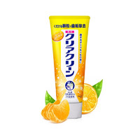 Kao 花王旗下Clear Clean 洁齿健 微细颗粒瞬间美白药用牙膏 新鲜柑橘 130克 除牙垢 *5件