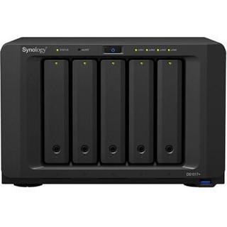 群晖(Synology)DS1517+(8GB) 内存 四核心 5盘位NAS网络存储服务器 (无内置硬盘 )
