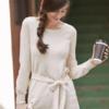 Gap 女装 舒适纯棉简洁纯色船领显瘦系带针织衫846346 Y 168元(需用券)